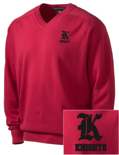 Liberty Elementary School Knights Embroidered Men's V-Neck Sweater