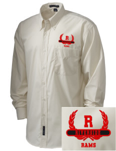 Riverside High School Rams  Embroidered Men's Easy Care, Soil Resistant Shirt