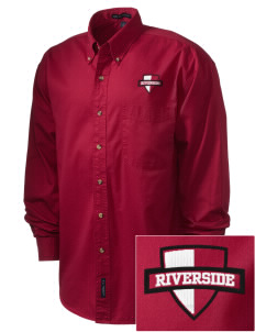 Riverside High School Rams Embroidered Men's Twill Shirt