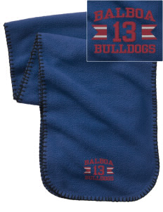 Balboa Elementary School Bulldogs Embroidered Fleece Scarf