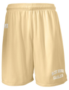 "Blue Ridge Elementary School Eagles  Russell Men's Mesh Shorts, 7"" Inseam"