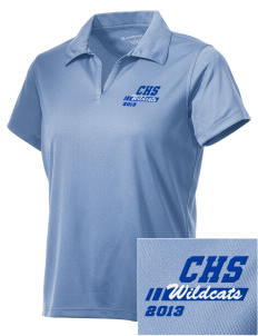 Colton High School Wildcats Embroidered Women's Double Mesh Polo