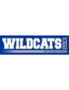 "Colton High School Wildcats Bumper Sticker 11"" x 3"""