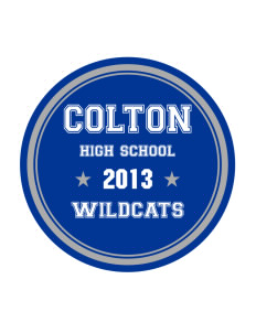 Colton High School Wildcats Sticker