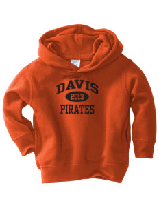 Davis High School Pirates  Toddler Fleece Hooded Sweatshirt with Pockets