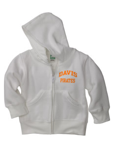 Davis High School Pirates Baby Full Zip Hoodie