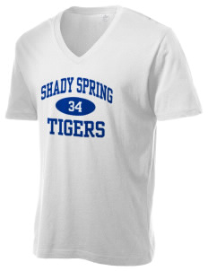 Shady Spring Elementary School Tigers Alternative Men's 3.7 oz Basic V-Neck T-Shirt