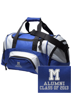 Mullens Elementary School Rebels Embroidered Small Colorblock Duffel