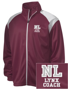 North Linn Elementary School Lynx Embroidered Men's Tricot Track Jacket