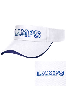 University Baptist Montessori Lamps Embroidered Binding Visor