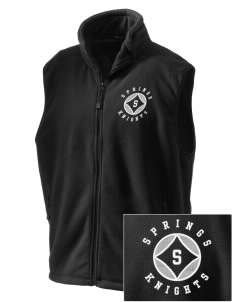 Springs Academy Knights Embroidered Unisex Wintercept Fleece Vest