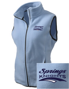 Springs Academy Knights Embroidered Women's Fleece Vest