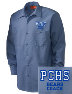 Pacific Coast High School Bears Embroidered Men's Industrial Work Shirt - Regular