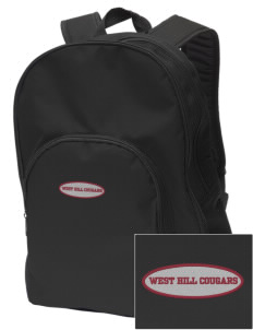 West Hills Intermediate School West Hill Cougars Embroidered Value Backpack