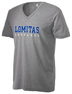 Lomitas Elementary School Leopards Alternative Men's 3.7 oz Basic V-Neck T-Shirt