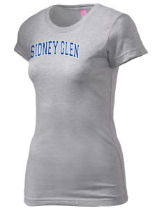 Sidney Glen Elementary School Dolphins  Juniors' Fine Jersey Longer Length T-Shirt