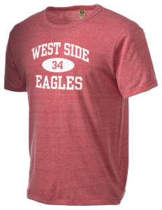 West Side High School Eagles Alternative Men's Eco Heather T-shirt