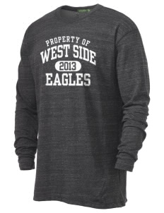 West Side High School Eagles Alternative Men's 4.4 oz. Long-Sleeve T-Shirt