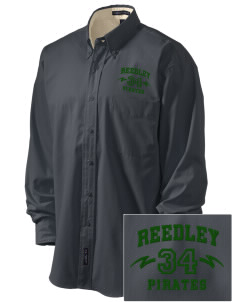 Reedley High School Pirates Embroidered Men's Easy-Care Shirt