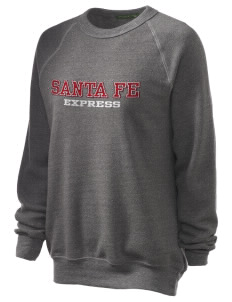 Santa Fe Elementary School South Indians Unisex Alternative Eco-Fleece Raglan Sweatshirt with Distressed Applique