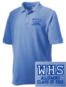 Wilmington High School Wildcats Embroidered Men's Performance Plus Pique Polo
