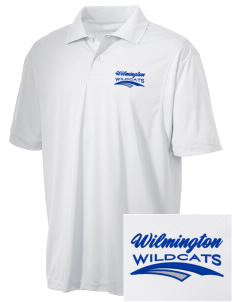 Wilmington High School Wildcats Embroidered Men's Micro Pique Polo