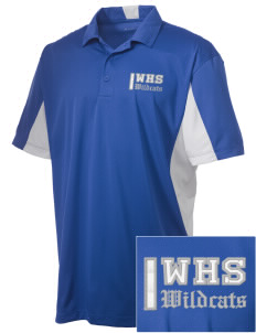 Wilmington High School Wildcats Embroidered Men's Side Blocked Micro Pique Polo
