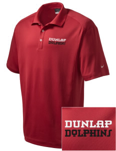 Dunlap Elementary School Dolphins Embroidered Nike Men's Dri-Fit Classic Polo