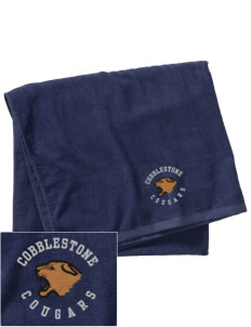 Cobblestone Elementary School Cougars Embroidered Beach Towel