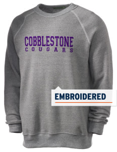 Cobblestone Elementary School Cougars Embroidered Alternative Eco-Fleece Raglan Sweatshirt