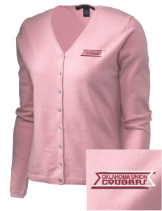 Oklahoma Union School Cougars Embroidered Women's Stretch Cardigan Sweater