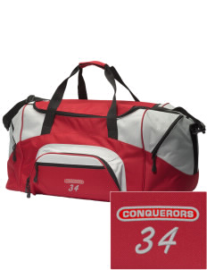 Abundant Life Christian Academy Conquerors Embroidered Colorblock Duffel Bag