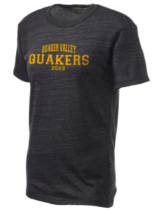 Quaker Valley High School Quakers Embroidered Alternative Unisex Eco Heather T-Shirt