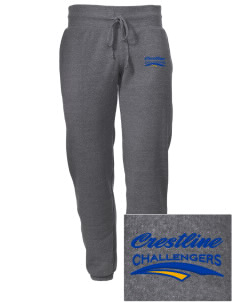 Crestline School Challengers Embroidered Alternative Men's 6.4 oz Costanza Gym Pant