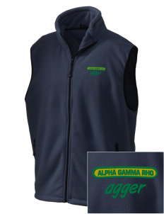Alpha Gamma Rho Embroidered Unisex Wintercept Fleece Vest