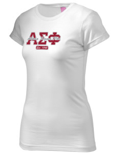 Alpha Sigma Phi  Juniors' Fine Jersey Longer Length T-Shirt
