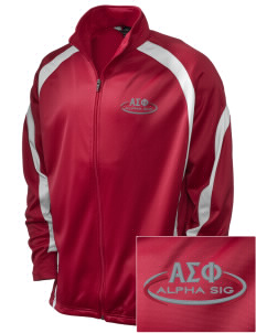 Alpha Sigma Phi Embroidered Holloway Men's Tricotex Warm Up Jacket