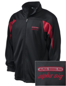 Alpha Sigma Phi Embroidered Holloway Men's Full-Zip Track Jacket