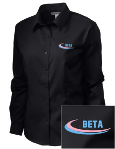 Beta Theta Pi  Embroidered Women's Long Sleeve Non-Iron Twill Shirt