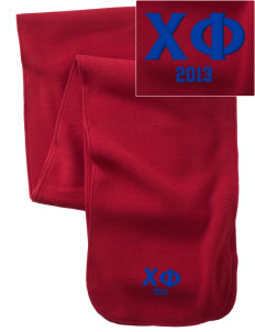 Chi Phi  Embroidered Extra Long Fleece Scarf