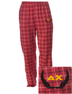 Delta Chi Embroidered Men's Button-Fly Collegiate Flannel Pant