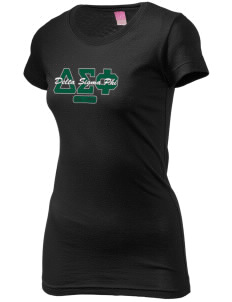 Delta Sigma Phi  Juniors' Fine Jersey Longer Length T-Shirt