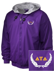 Delta Tau Delta Embroidered Holloway Men's Hooded Jacket