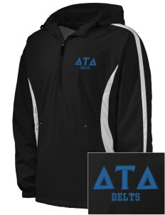 Delta Tau Delta Embroidered Men's Colorblock Raglan Anorak