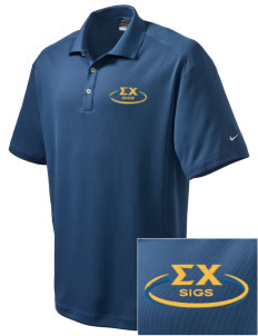 Sigma Chi Embroidered Nike Men's Dri-Fit Classic Polo