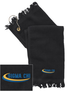 Sigma Chi  Embroidered Grommeted Finger Tip Towel