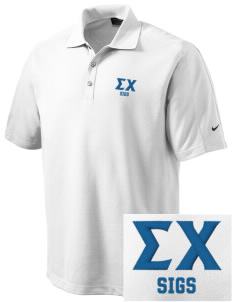 Sigma Chi Embroidered Nike Men's Dri-FIT Pique II Golf Polo