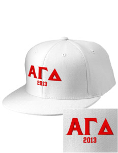 Alpha Gamma Delta Embroidered Diamond Series Fitted Cap