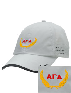 Alpha Gamma Delta Embroidered Nike Dri-FIT Swoosh Perforated Cap