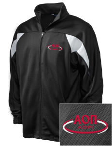 Alpha Omicron Pi Embroidered Holloway Men's Full-Zip Track Jacket